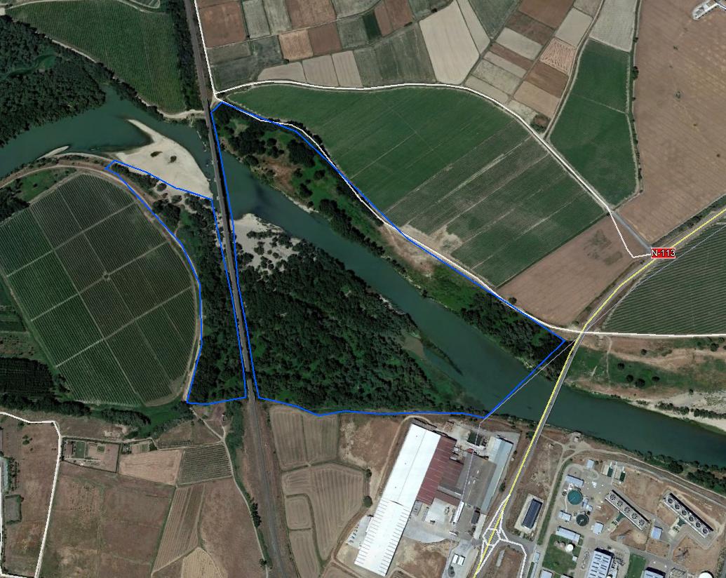 Ortofotograía de la solicitada para ampliar la Reserva Natural de los Sotos de Alfaro